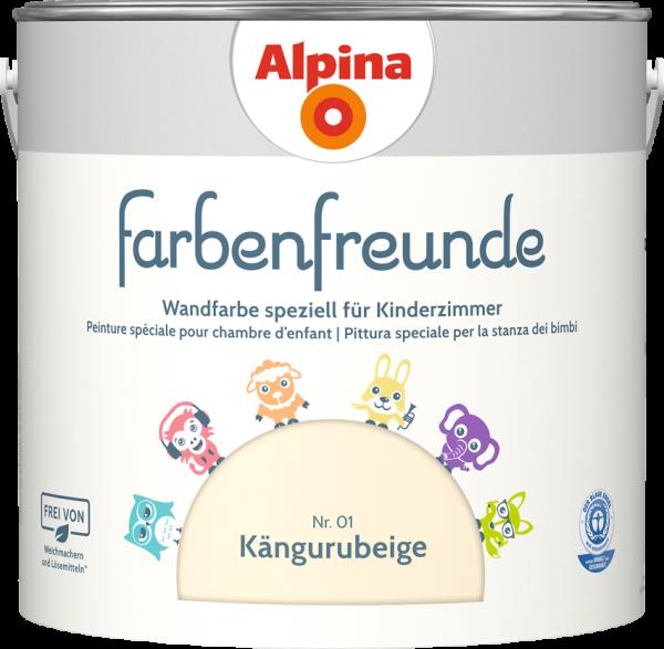 Alpina Farbenfreunde Kinderzimmer  Farbtöne:Nr.01 Kängurbeige