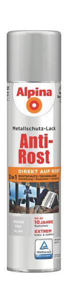 Alpina Metallschutz Lack Anti Rost Aero Silber 400ml