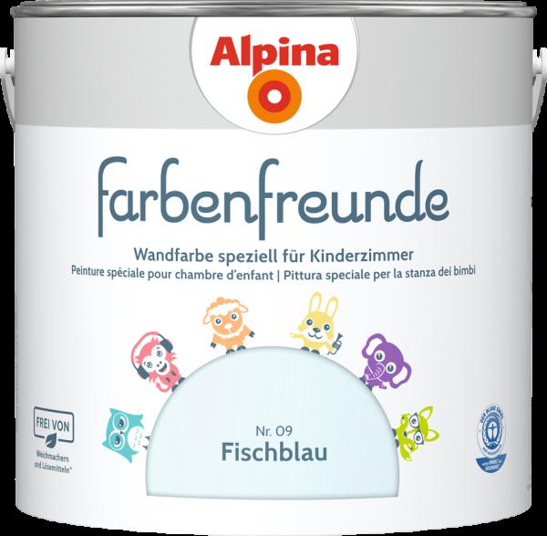 Alpina Farbenfreunde Kinderzimmer  Farbtöne:Nr.09 Fischblau