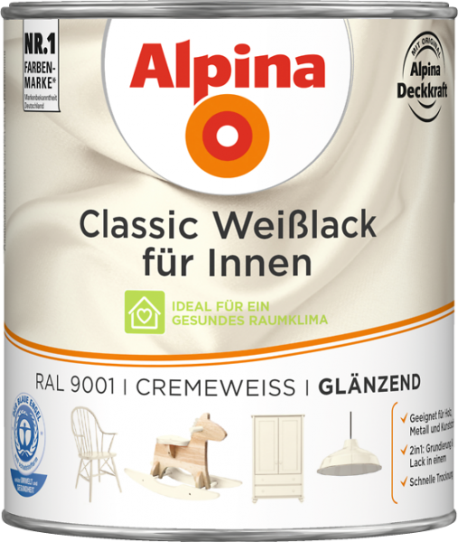 Alpina Classic Weiss Cremeweiss 750ml