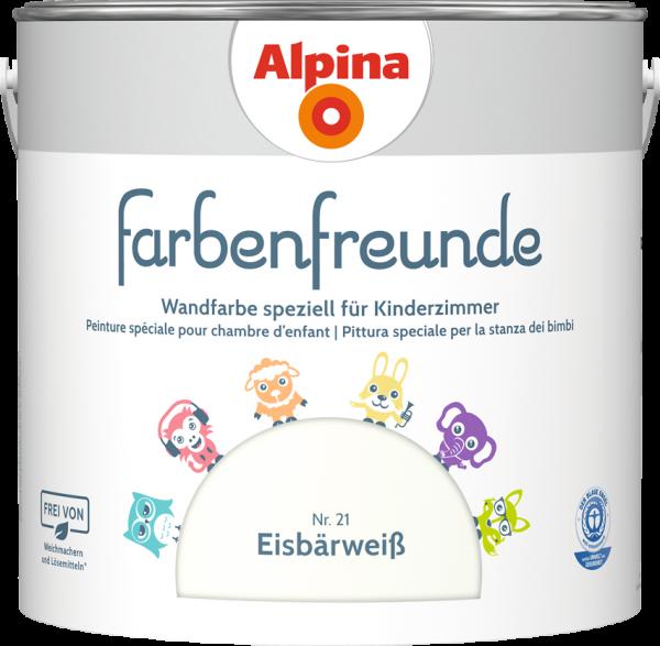 Alpina Farbenfreunde Kinderzimmer  Farbtöne:Nr.21 Eisbärweiß
