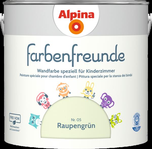 Alpina Farbenfreunde Kinderzimmer  Farbtöne:Nr.05 Raupengrün